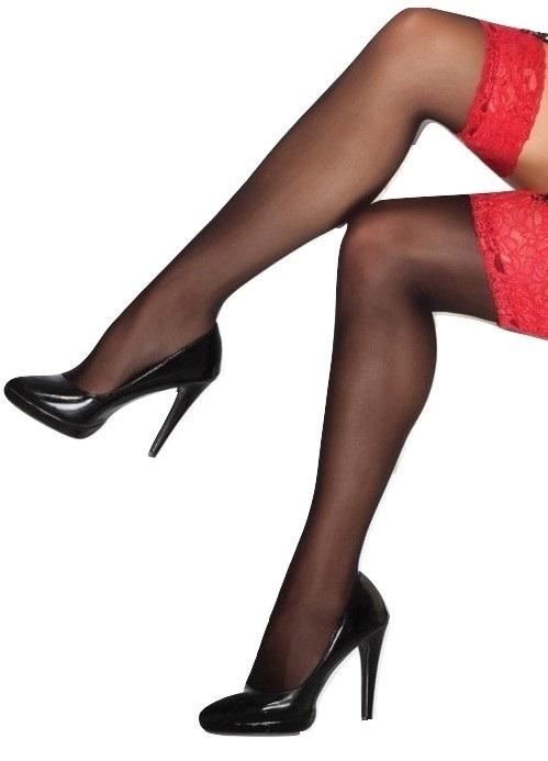 52db74108c2 NEW Lace Top 20 DEN Sheer Stay Hold-Ups Stockings 7XXXXL 6XXXL plus size  7XL 6XL
