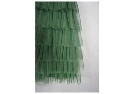 ARMY GREEN Layered Tulle Skirt Women High Waist Mesh Full Tulle Party Skirt Plus image 3