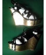 "Diba ""Rho Nda"" Black Strappy Heels Size 9 Medium - $14.70"