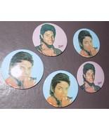 "VTG 1980's LOT 5 Michael Jackson 3"" Pinbacks Pins Buttons 80s MJ - $12.78"