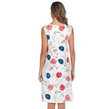 Maternity's Dress V Neck Floral Print Sleeveless Fashion Dress image 6