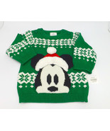 Disney Store Christmas Sweater Baby Boy 9-12M Mickey Mouse New 3D Hat Nordic - £14.91 GBP