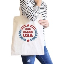 God Bless USA Natural Eco-Friendly Canvas Tote Bag Canvas Tote Bag - $15.99