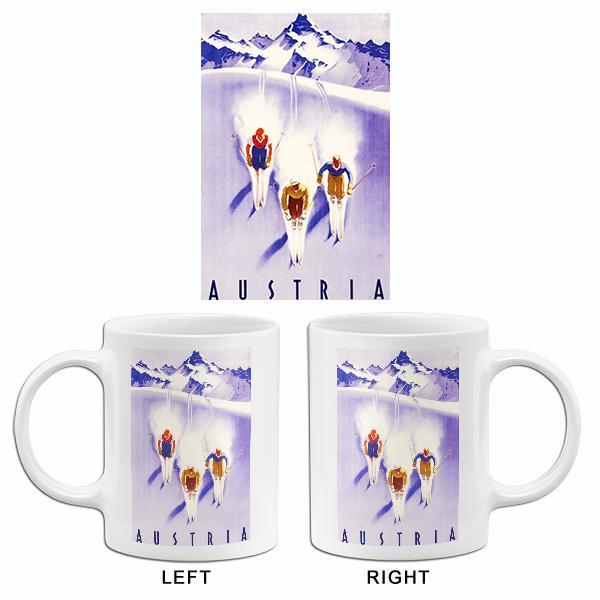 Primary image for 1930's - Austria - Three Skiers - Travel Advertising Mug