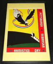 1936 Nebraska vs Pitt Panthers Football Framed 10x14 Poster Official Repro - $32.36