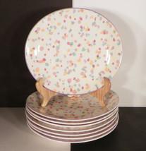 Sango Larry Laslo CONFETTI Salad Plate (s) LOT OF 8 Multicolor Colorful ... - $39.55
