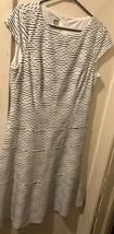 Anne Klein Size 12 Full Length Sleeveless Dress NWOT Black & White HTF - $49.49
