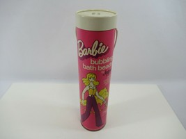 Barbie Bubbling Bath Beads by Jergens - 1974 VTG Reuse Container as Doll... - $14.49