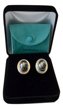 Gorgeous Tiffany Picasso Large Hematite Cabochon Sterling Earrings $600 Reduced - $371.25