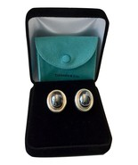 Gorgeous Tiffany Picasso Large Hematite Cabochon Sterling Earrings $600 ... - $371.25