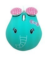 Super Cute Elephant Mouse USB Optical Wired Mouse Girls Exclusive Mouse - ₨1,275.35 INR
