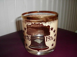 Bicentennial  Glasses With Gold Declaration Of Independence Lot of 6 - $18.69