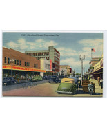 Cleveland Street Scene Cars Woolworth Store Clearwater Florida 1954 post... - $6.44