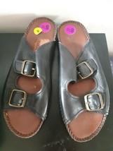 Naturalizer Sandals Shoes Slides Slip On Size 8 1/2 M Womens Black - $19.75