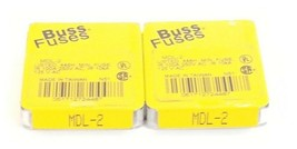 LOT OF 7 NEW COOPER BUSSMANN MDL-2 FUSES MDL2