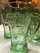 Set of 8- 14oz Vintage Green Tinted Coca-Cola Mug Glasses (Libbey) Thick & Heavy - $30.00