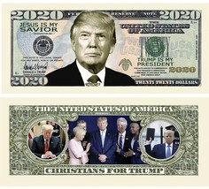 Pack of 50 - Donald Trump 2020 Presidential Re-Election Dollar Bill Chri... - $11.99