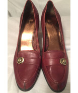 Etienne Aigner 'NAOMI' Brown Leather Slip On dress Shoes Size 10M - $19.80