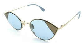 Fendi Sunglasses FF 0342/S QWU1P 51-23-140 Gold / Azure Made in Italy - $98.49