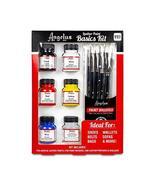 Angelus Leather Paint Starter Kit with Deglazer and Brush set - $27.39