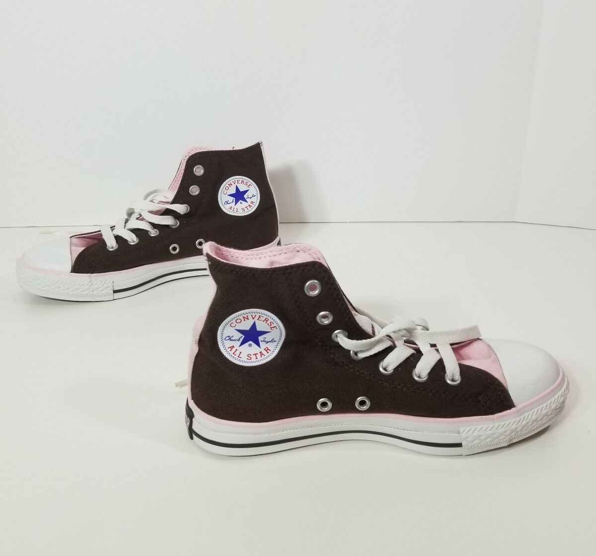WOMENS Converse All Star Sneakers Pink Sz 3 Shoes Laces Brown Casual Sports