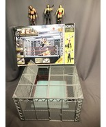 WWE The Cell Cage Match Ring Jakks Pacific Wrestling Ring RARE display M... - $346.49