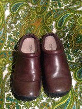 MERRELL ORTHOLITE AIR CUSHION WOMEN'S SIZE 7M SHOES BROWN LEATHER SLIP O... - $29.69