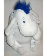 Disney Store EEYORE Winter White Plush Blue Scarf Removeable Tail  - $25.25