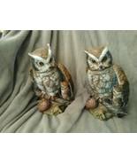 Ceramic owl figurines - $21.78