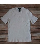 Lauren Ralph Lauren Women Top Tshirt 100%Cotton Size Medium - $12.87