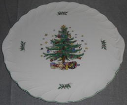 Nikko HAPPY HOLIDAYS PATTERN Party or Serving Plate/Platter HOLIDAY - CH... - $27.71