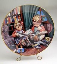 Hummel Little Companions Budding Scholars  Plate Danbury Mint COA - $7.87
