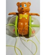 Vintage 1978 Fisher Price 642 Happy Bob Along Rolling Ball Popper Bear P... - $4.85