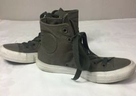 Boys Converse Chuck Taylor All Star High Top Grey Shoes Youth Kids SZ 5 Sneakers - $22.77