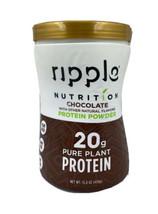 RIPPLE Nutrition 20g Pure Plant Protein Powder Chocolate 15.8 oz - 05/2022 - $25.06