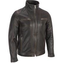 Men's Black Rivert Faded Seam Genuine Leather image 2