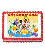 Mickey Mouse Edible Cake Image Cake Topper - $8.98+