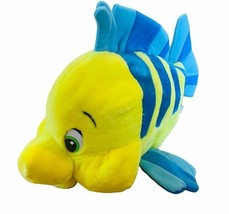 Flounder fish plush stuffed animal Disney Store exclusive Little Mermaid... - $39.55
