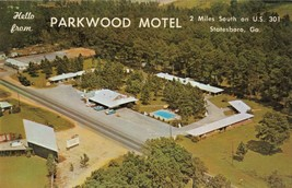 Parkwood Motel U.S. 301 Statesboro, Ga. Classic Cars Pool Postcard - $7.75