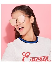 Donna Oversized Cat Eye Sunglasses Women Round ... - $22.00