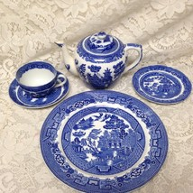 Vintage, Allerton, Blue Willow 6pc Tea and Dinner Set for 1 - $170.95