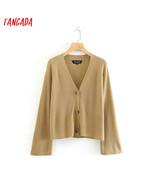 Tangada 2019 autumn winter women loose cardigan sweater flare long sleev... - $25.60