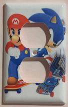 Mario Sonic Games Skateboard Light Switch outlet Wall Cover Plate Home decor image 14