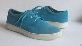 10 shoes sneakers BUGATCHI men size leather blue suede vwE61EqP