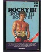 Rocky III (1982) VINTAGE VHS Cassette Sylvester Stallone Mr. T. - $39.59