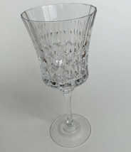 Cristal d'Arques Crystal Water Goblet Diamond Pattern - $12.86