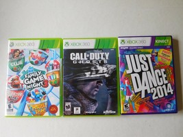 Game Video Xbox 360 Lot 3 Books Cases Game Night 3 --JUST Dance 2014-CALL Of Dut - $51.99