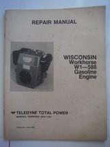 Teledyne Total Power Wisconsin Workhorse gas engines W1-588 repair manual fair - $10.66
