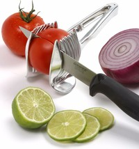 LECOOK Stainless Steel Tomato Onion Lime Slicer Fruit Food - $25.95