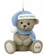 Hallmark Babys 1st Baby Boys First Christmas Ornament Blue Teddy Bear 2019 - $9.87